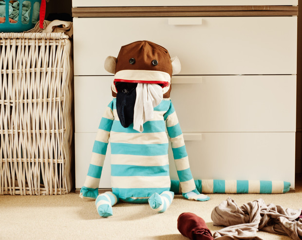 sock monkey laundry bag - hippe kinder - trendy kids