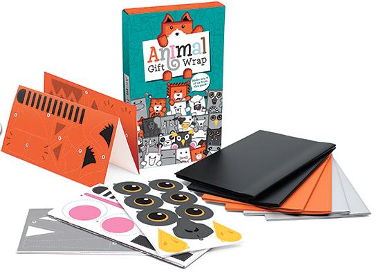 Geschenkpapier für Kinder, Geschenkdose, Lustiges Geschenkpapier, Tiere, Geschenk, Kinder, Jungen, Mädchen