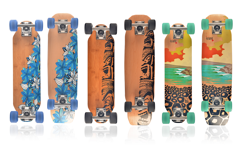 Skateboard für Kinder, Skateboard für Jungen, Skateboard für Mädchen, Pennyboard aus Holz, Woodyboard, Jucker Hawaii