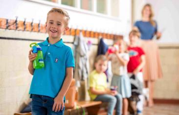 Wasserflaschen,Thermische Flaschen, gizmo sip,100 % auslaufsicher, tropffrei,frei von BPA,Kinder-Trinkflaschen, Kinderflaschen, Strohhalm, Muster