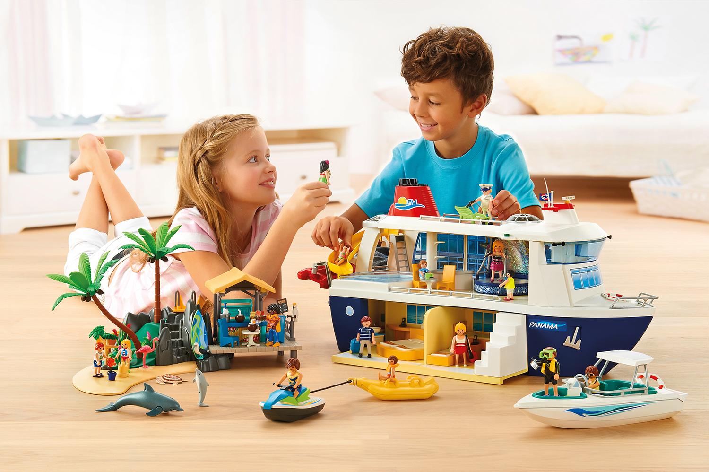 Kreuzfahrtschiff,PLAYMOBIL Kreuzfahrtschiff, Kreuzfahrtschiff Kinder, Kinder, Jungen, Geschenk für Jungen, Geschenk für Mädchen, Kreuzfahrt mit Kinder, Kreuzfahrt für Kinder, Spielzeug, Wasser, Boot, Urlaub,